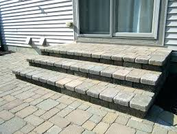 building patio steps staggering patio steps how to build stone building a over concrete indoor stairs