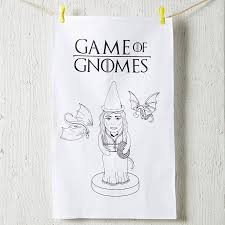 Kitchen Tea Game Game Of Gnomes Tea Towel By Coconutgrass Notonthehighstreetcom