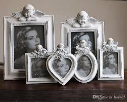 lovely photo frames white resin rectangle bedroom decor cupid angel baby birthday creative kids mini picture photo frame photo frames creative gift mini