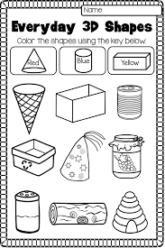 2D and 3D Shapes Worksheet Pack - NO PREP | 3d shapes, Printable ...