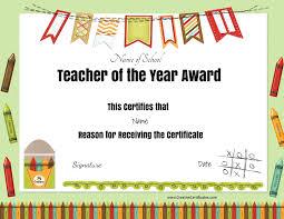 Best Teacher Certificate Templates Free Best Teacher Certificates Rome Fontanacountryinn Com