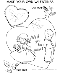 Small Picture Valentines Day Cards Coloring Pages Valentine heart Cut Out