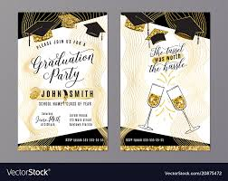 Design Grad Party Invites Graduation Party Class Of 2018 Vertical Invitation