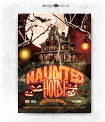 Free House Flyer Template Haunted House Flyer Template Seeking Designs