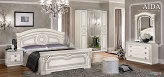 Image Modern Aida Italian Bedroom Set In White And Silver Finish Touch To Zoom United Furniture Group Esf Aida Italian Bedroom Set In White And Silver Finish