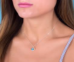 silver evil eye necklace sterling silver necklace silver infinity necklace everyday jewelry