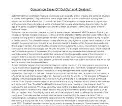 comparison essay between out out and disabled by wilfred owen  document image preview