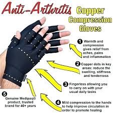 Copper Fit Gloves Size Chart Copper Hands Arthritis Compression Gloves As Seen On Tv