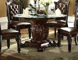 54 inch round dining table set with extension