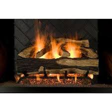 18 in seasoned hickory vented natural gas fireplace log set