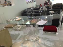 transpa acrylic lucite glass dining table ct047 hong kong lucite dining room table elegant design