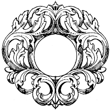Ornate hand mirror drawing Mirror Silhouette German Mirrorframe Preciosbajosco German Mirrorframe Clipart Etc