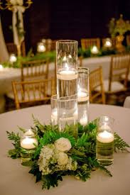 Modern Blue Silver White Centerpiece Centerpieces Place Settings Winter Wedding Reception Photos Pictures Weddingwire