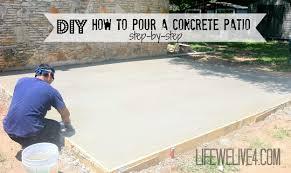 concrete patios diy