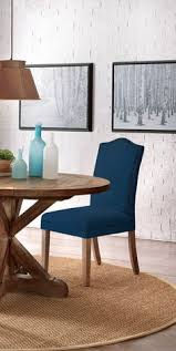 give your dining room a stylish update with new upholstered dining chairs in a bold color parsons
