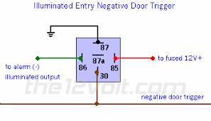 illuminated entry and light flash relay diagrams Wiring Diagram For Relays 12 Volt illuminated entry negative relay diagram wiring diagram for 12 volt relay