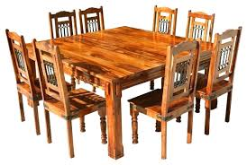 square 9 piece dining set 9 piece dining set square all wood dining room table solid