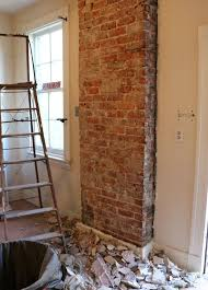 how to remove plaster from a brick chimney