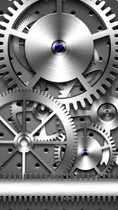 wallpaper for iphone 6 silver. Contemporary For Lockscreens Gears Silver Cool Metallic Mechanical Engineering Clocks Watch  For Guys Geeks Technical HD IPhone 6 Plus Wallpaper With Iphone