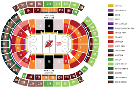 Nj Devils Seating Chart Prudential Center Section 134 New