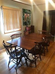 cherry queen anne admirals table chairs pic exclusive pennsylvania house dining room set