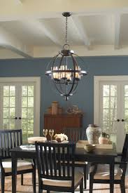 Sea Gull Lighting 3110406715 Autumn Bronze Sfera 6 Light Chandelier With Mercury Glass Shades  LightingDirectcom