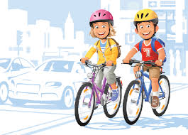 Image result for child cycling clip art
