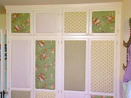 Dress up closet doors with fabric covered panels! Super cute!