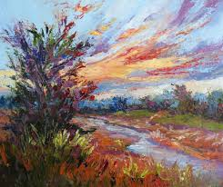 new day drama new contemporary landscape painting by sheri jones