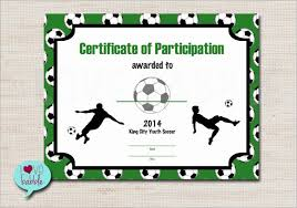 Free Soccer Certificate Templates 30 Free Printable Soccer Awards Pryncepality