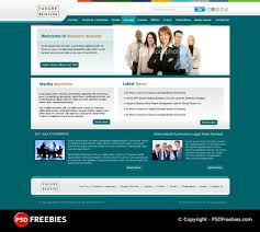 Corporate Website Psd Template Psdfreebies Com