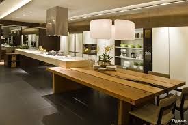 Kitchen Island Table With Granite Top Elegant Luxury Photo Kitchen Design With Pendant Lamp Above Wooden