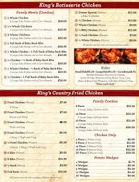 martinsburg wv king s chicken rotisserie more menu kings new share
