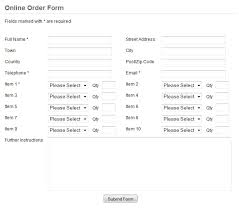 Free Online Order Form Template Order Forms Professional Order Form Template Scripts For