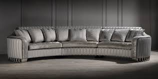 Luxury Couch Silver Curved Sofa Luxury Curved Sofa Unusual Sofa Large Sofa