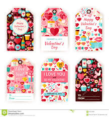 happy valentine day vector gift template flat set