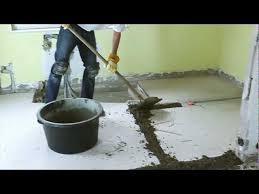 Außerdem kann sie schnell abgenommen werden, falls probleme mit. Boden Renovieren Mit Schnell Estrich Youtube