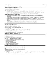 Electrical Engineer Resume Example Design Sample Engineering Format