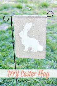 burlap easter flag crafts unleashed 1