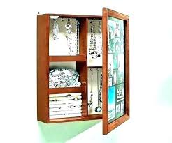 Jewelry Holder Ideas Wall Display Mounted  Hanger Hanging Cabinet Excellent Diy  Wall Mounted Jewelry Cabinet38