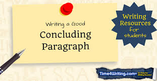 writing a good conclusion paragraph timewriting