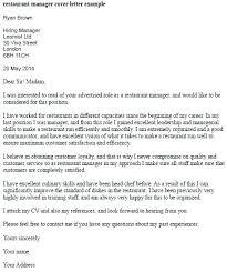 Sample Restaurant Management Cover Letter Hairdressing