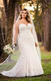 wedding dresses romantic lace plus size wedding gown stella york