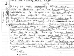 yr battle of hastings exemplar essay  yr7 battle of hastings exemplar essay 1