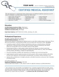 Medical Assistant Resume Samples Free Free Resume Example And