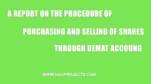 Selling A Share Certificate A Report On The Procedure Of Purchasing And Selling Of Shares