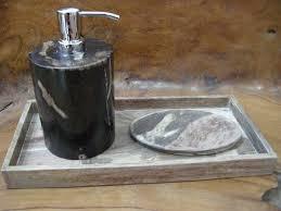 Wooden Bathroom Accessories Set Pcs Rustic Oak Bathroom Accessories Sets W Toilet Paper Holder