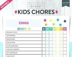 Toddler Chore Chart Template Kids Chore Chart Ideas Davidburgess Me