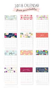 20 Free Printable Calendars For 2018 Print Pinterest Calendar