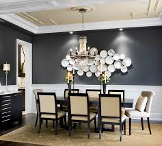 gray and white dining room ideas. view in gallery highlight wall art or a sculptural masterpiece with gray backdrop [design: jane lockhart and white dining room ideas m